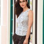 Alankrita Sahai in modern dress revealing photoshoot  black and white dress (4)
