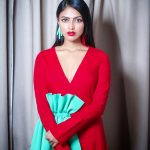 Amala Paul, red dress, 2018