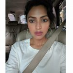 Amala Paul, without makeup, car