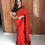 Anjali, red saree, latest