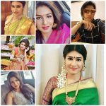 Anjena Kirti, saree, collage, yaagan movie