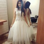 Anjena Kirti, white dress, full size, large size