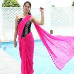 Bindu Madhavi, pink saree