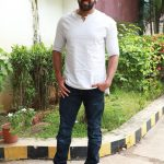 Ghajinikanth press meet, Arya, new look