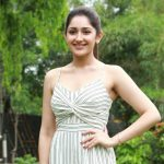 Ghajinikanth press meet, Sayyeshaa Saigal, white dress