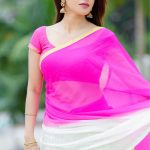 Iswarya Menon, pink saree, new look