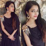 Janani Iyer, black dress