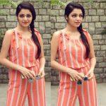 Janani Iyer, modern dress, glass