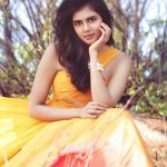 Kalyani Priyadarshan, yellow dress, charming