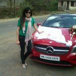 Kirti Kulhari with new benz car (7)