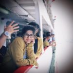Megha Akash, hd, smile, boat, recent