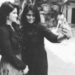 Megha Akash, mom, black dress, rare picture, amma