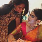 Megha Akash, saree, traditional look, shooting