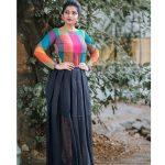 Nakshathra, graceful, colour dress