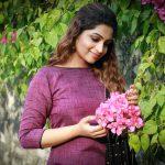 Nakshathra, pink flowers, cute