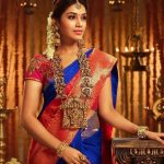 Nivetha Pethuraj, traditional, saree, blue dress