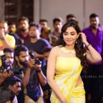 Parvatii Nair, press meet, neerali, yellow dress