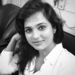 Ramya Pandiyan, black and white