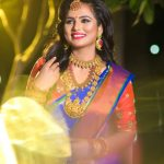Ramya Pandiyan, saree, night, function, smile
