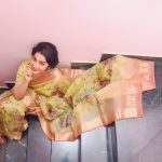 Ramya Subramanian, cover, saree, vj