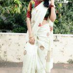 Ramya Subramanian, full size, saree, recent picture