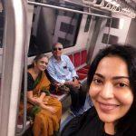 Ramya Subramanian, selfie, amma, appa, metro train