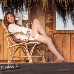 Saidah Jules goa photoshoot transparent shirt bikini  (2)