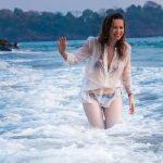 Saidah Jules goa photoshoot transparent shirt bikini  (3)