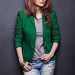 Saidah Jules photoshoot green jacket (11)
