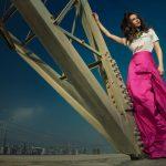 Saidah Jules photoshoot pink frock long  (9)