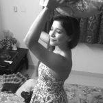 Sakshi Agarwal, black and white, pillow
