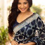 Sakshi Agarwal, saree, smile