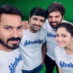 Sayyeshaa, team, ghajinikanth, movie promotion