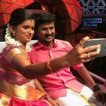 Senthil ganesh, Rajalakshmi, selfie, smile