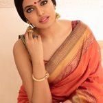 Shivani Rajashekar, red saree, unseen