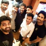 Simbu, aadhi, friends, selfie