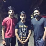 Simbu, aniruth, friend, night