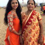 Suza Kumar, amma, beach, mom