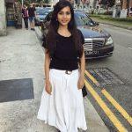 Suza Kumar, full size, black & white dresss