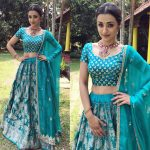 Trisha Krishnan, graceful, blue chudi