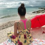 Trisha Krishnan, seductive, back side, beach