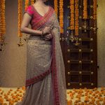Vani Bhojan, brown saree, pretty