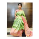 Yamini Bhaskar, green saree