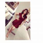 Yamini Bhaskar, outing, red dress