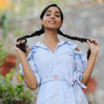 anupriya goenka  candid pic in blue shirt