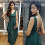 anupriya goenka  dark green dress  (2)