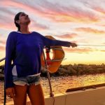 kubbra sait Greece holidaying alone traveller solo blue dress (2)