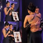 kubbra sait at award function designer dress
