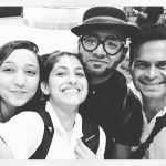 kubbra sait  black and white selfie with benny dayal