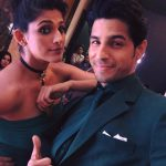 kubbra sait green dress with siddharth malhotra (1)